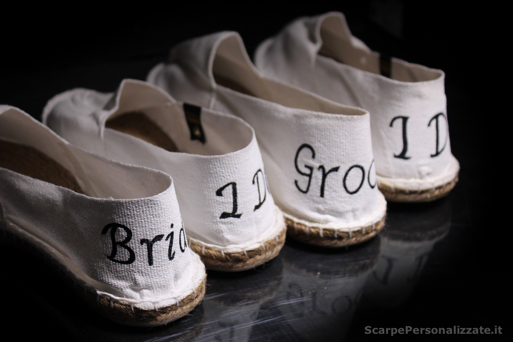 Espadrillas per Matrimonio Bride Groom