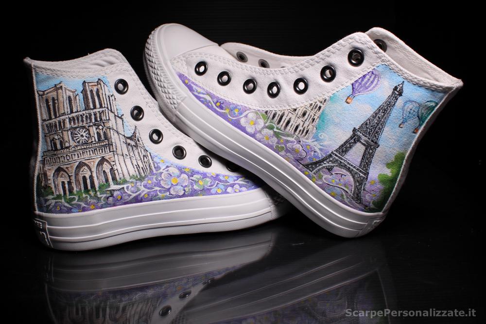 Converse Personalizzate Parigi Notredame