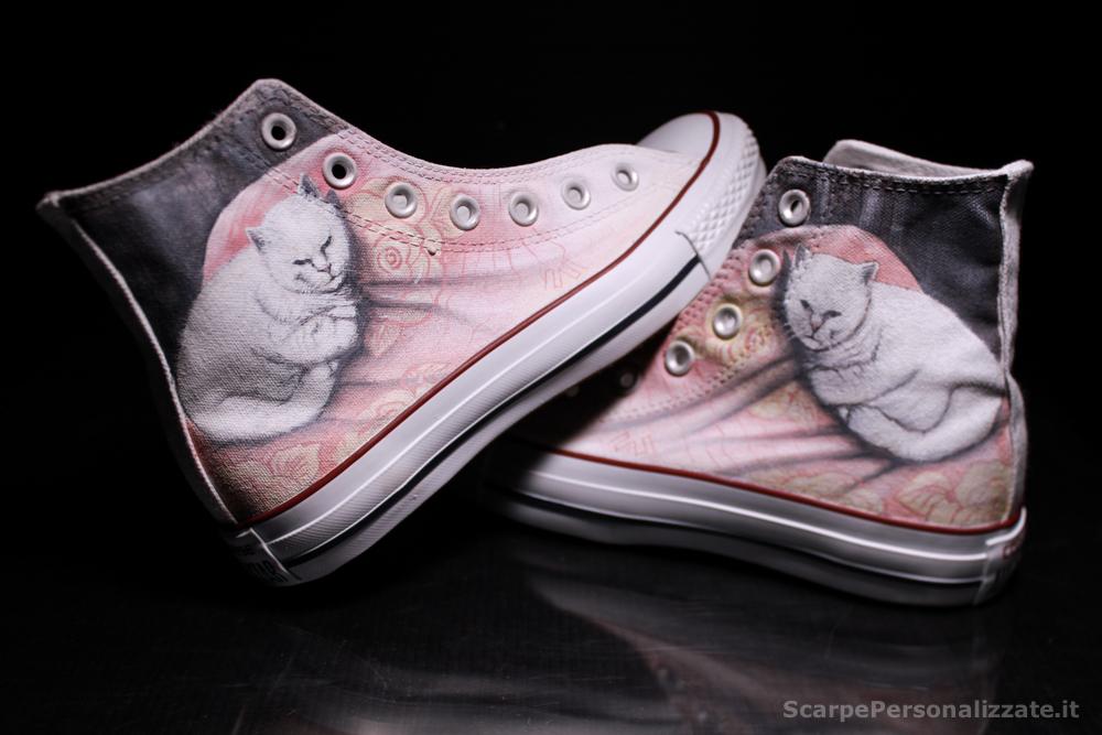 Converse Personalizzate con Ritratto di Gatto