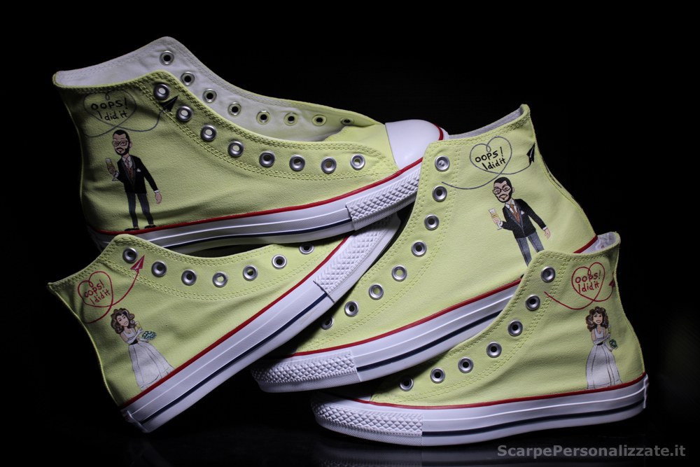 Matrimonio In Converse : All star personalizzate matrimonio pb regardsdefemmes