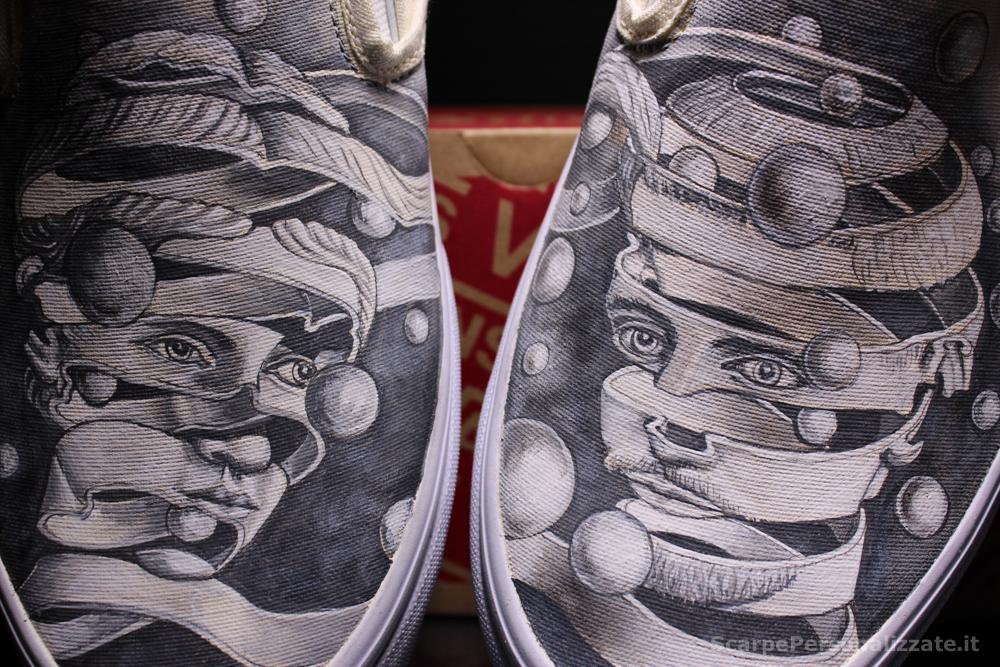 Scarpe Vans Personalizzate Arte Due Facce