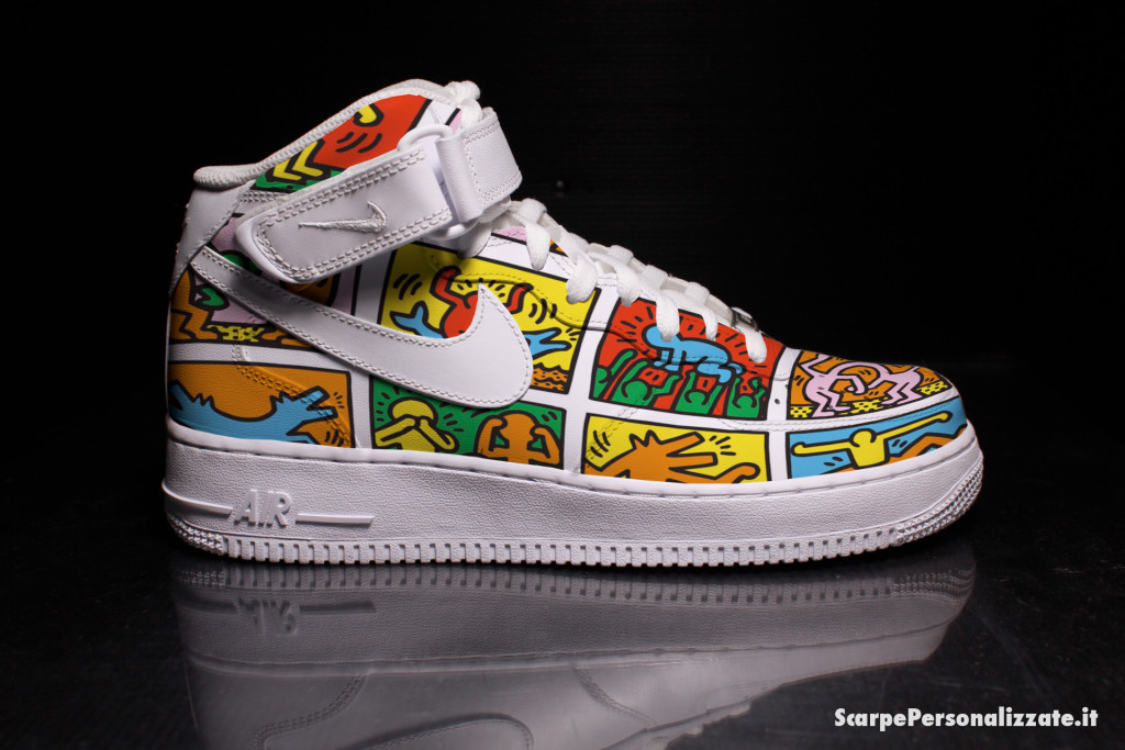 nike-air-force-one-personalizzate-keith-haring-omini-colorati-2
