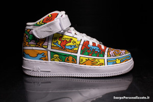 nike-air-force-one-personalizzate-keith-haring-omini-colorati