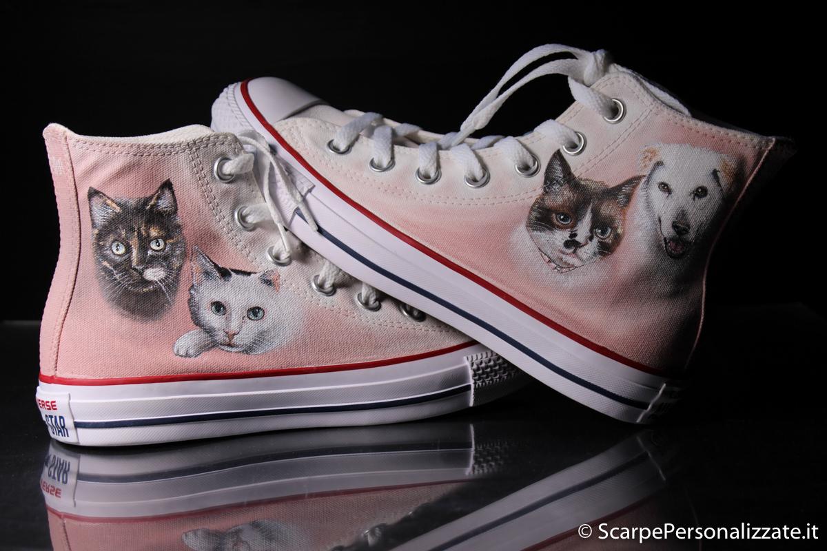 2scarpe converse gatto