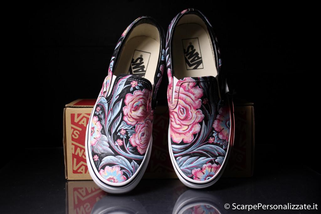 scarpe-personalizzate-vans-slip-on-trame-fiori-1