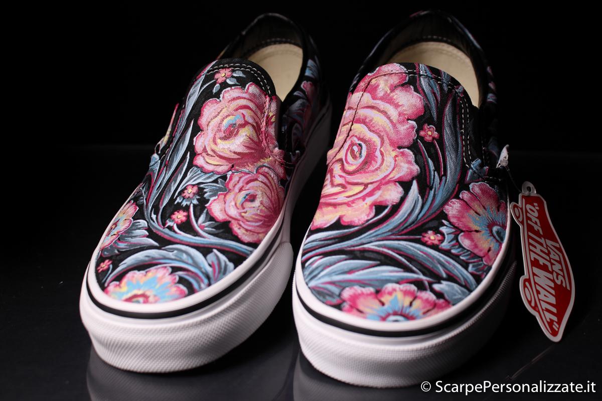 scarpe vans con fiori