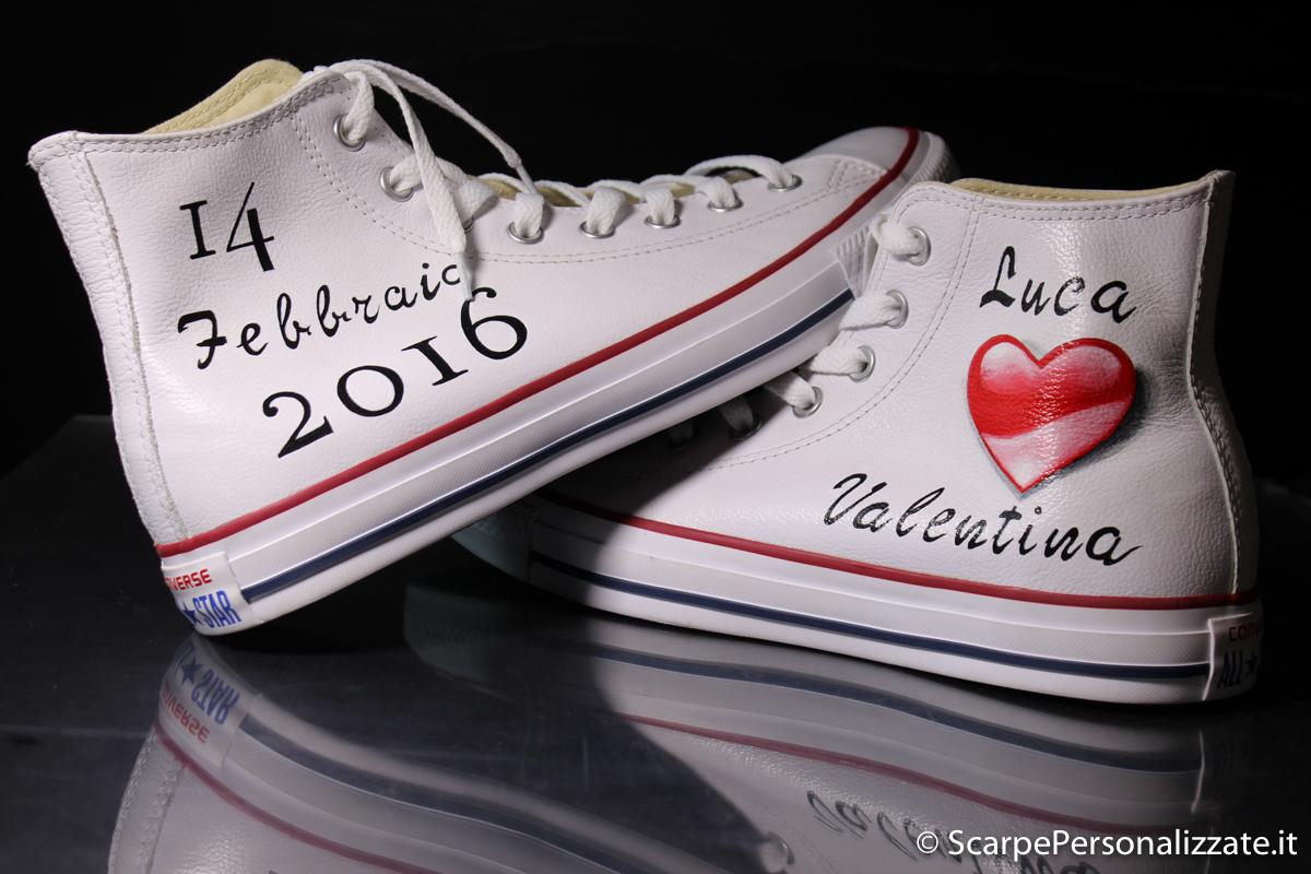 Matrimonio In Converse : Scarpe personalizzate matrimonio con cuore