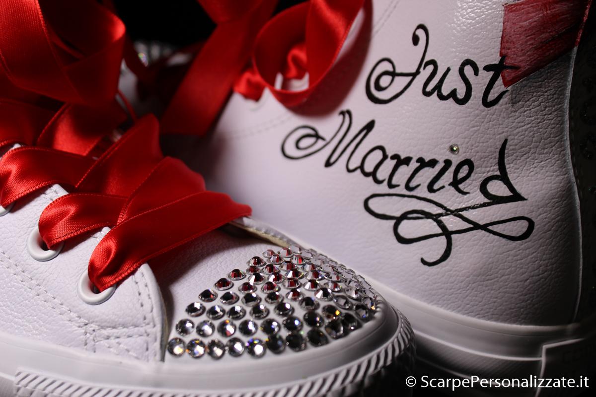 Estremamente Converse pelle personalizzate matrimonio sposo sposa – Scarpe  NG05