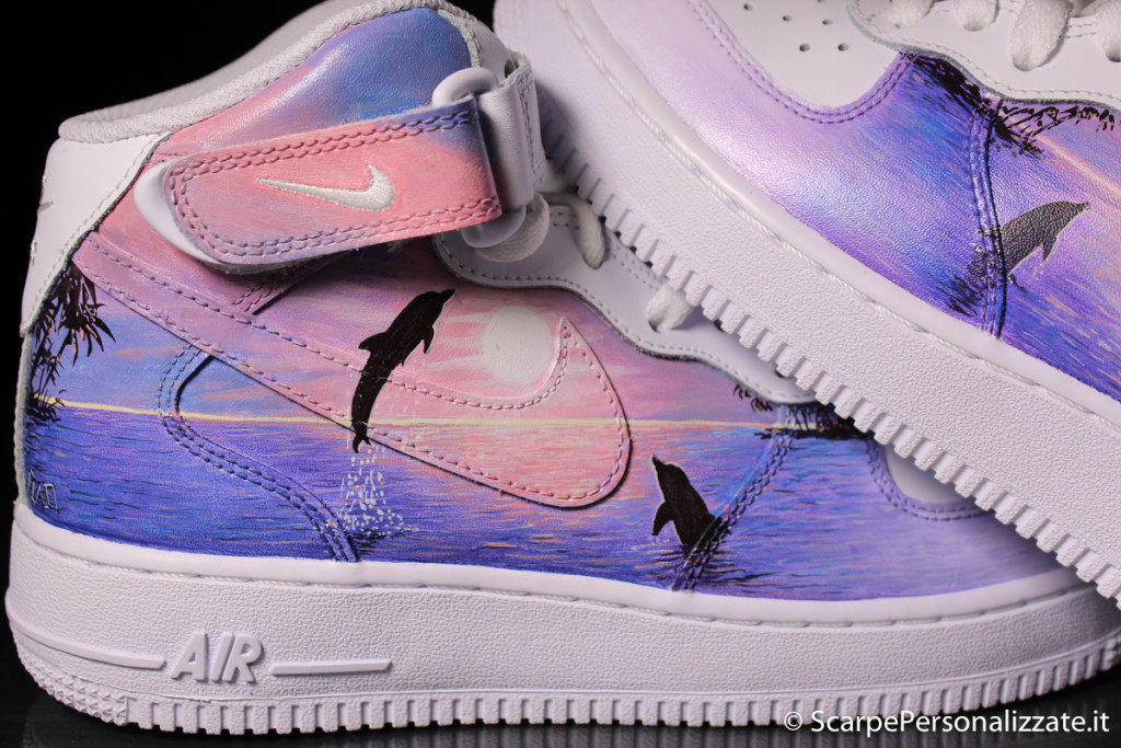 nike-air-force-one-mid-personalizzate-delfini-2